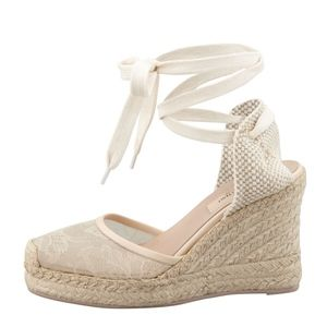 Valentino Nude Lace Covered 100 mm Espadrilles 11